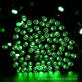 太陽動力を与えられた100つのLEDの屋外のクリスマスストリング薄緑のカラー