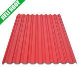 물결 모양 플라스틱 지붕 장을 품는 짐
