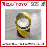 Nastro nero e giallo del PVC di protezione