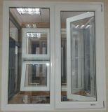 浙江、中国(PCW-003)のRoomeyeからの二重ガラスをはめられたPVC開き窓のガラス窓
