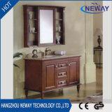 Мебель ванной комнаты пола вычуры Antique твердой древесины стоящая
