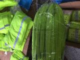中国の工場OEMの農産物の安く緑は反射縞のマルチ首の管状のスカーフによって染まった