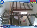 Escalera de la estructura de acero de la pintura para el piso del entresuelo (FLM-SP-003)