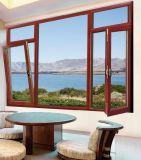 De aluminio cubierta película europea del estilo Inclinar-Dan vuelta a la ventana para la casa residencial