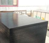 Madera Shuttering hecha frente película negra de la madera contrachapada del álamo para la construcción (6X1250X2500m m)