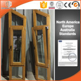 Finestra di vetro circolare/rotonda o qualsiasi personalizzato della finestra di specialità di legno solido di stile dell'America, di figura di specialità di legno