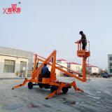 8-16m Extension de levage de bras de pliage mobile à usage extérieur pour entretien