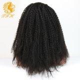 Perruques bouclées crépues Glueless de lacet de cheveux humains de circuit de lacet d'avant de perruques de Vierge de circuit bouclé crépu brésilien de cheveu pleines pour des femmes de couleur