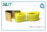 """Courroie de rochet de polyester de 2017 ASTM avec le crochet plat (2 """" X8')"""