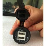 Двойной заряжатель USB для гнезда лихтера сигареты мотоцикла автомобиля автоматического (DS2013-2)