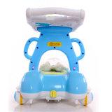 Marcheur en gros de poussée de bébé avec 4 roues en plastique