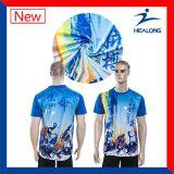 Os t-shirt do Sublimation da tintura imprimiram o t-shirt