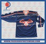 Azul marino camisas con el logotipo del equipo de Hockey