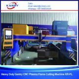 Kr-Xgb della macchina di taglio alla fiamma del plasma del tubo d'acciaio e del piatto di CNC del cavalletto
