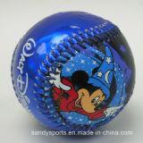 Малыши любят софтбол бейсбола сердечника PVC кожаный резиновый