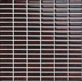 Mosaico di vetro del guardaroba brillante del Brown scuro della striscia (G658003)