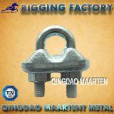 Matériel malléable du clip DIN1142 de câble métallique de dispositif de fixation en métal