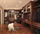 De moderne Garderobe van de Kast van de Slaapkamer van de Korrel van de Luxe Houten Walk-in
