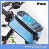 Bolso de bicicleta de tubo superior dianteiro de bicicleta impermeável