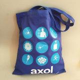 工場卸し売り昇進のキャンバスのロゴによってカスタマイズされるハンド・バッグ