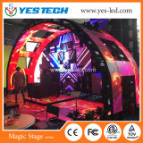 Schermo della priorità bassa di fase di concerto LED con le multi figure creative
