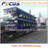 Remorque de service de camion lourd de plate-forme de cargaison à plat de conteneur de 3 essieux semi