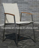 Журнальный стол отдыха нержавеющей стали 2-Seats напольный с 2 стулами