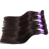 Grau 7um cabelo Virgem Reta peruano não transformados 4 Bundles Trata Puruvian pacotes de cabelo molhado e cabelo beleza VIP cabelo ondulado