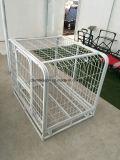 Grande cage se pliante lourde de crabot d'animal familier en métal