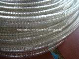 Mangueira reforçada plástico do PVC com resistente UV