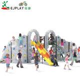 Parede de escalada de plástico crianças parque infantil exterior Escalador física do equipamento