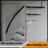 Baranda de escalera de vidrio para interiores modernos