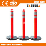 Zwarte Base Plastic T-Top Road Safety Delineator Post