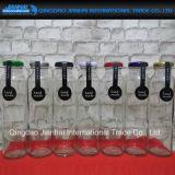 Glasflasche der Überwurfmutter-310ml mit bunten Kappen