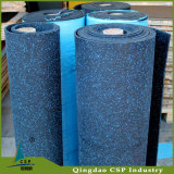 Couvre-tapis en caoutchouc élastique d'étage d'utilisation d'intérieur avec les taches colorées d'EPDM
