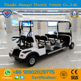 Nuevo carro de golf eléctrico diseñado de 6 asientos para el centro turístico