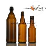 bernsteinfarbige Glasflasche 1000ml für Bier