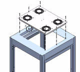 Painel superior do ventilador contínuo de alumínio elétrico industrial de um cerco de 19 polegadas