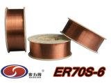 Kohlenstoffarmer fester Schweißens-Draht des Stahl-ER70S-6