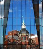 Der gefärbte Kunst-freie Raum/beschichtete,/reflektierender Gleitbetrieb ausgeglichenes Fenster-Glas (JINBO)