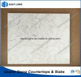 Lastra bianca della pietra del quarzo di Carrara per il controsoffitto della cucina con il prezzo di fabbrica (colori di marmo)