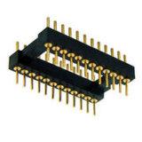 Custom 2.54mm IC pin hembra del conector del cabezal labrado polos