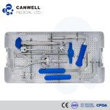 Conjuntos para el tornillo de Pedicle, conjuntos del instrumento de la espina dorsal, instrumento quirúrgico del instrumento de la espina dorsal de Canwell