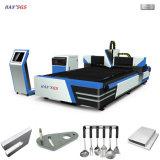 レーザー装置二重駆動機構のファイバーCNCレーザーの金属の打抜き機