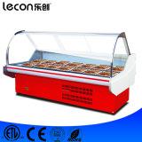 Refrigerador de la visualización de la carne del congelador de los mariscos