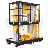 Doppelter Mast-hydraulischer vertikaler Mann-Aluminiumaufzug, teleskopischer Mann-Aufzug