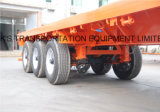 Semi Reboque Flatbed 3Paxe 3 Pax / Single Tire
