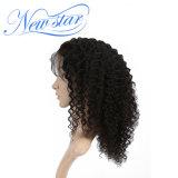 2017 peluca llena del cordón de la venta del pelo humano de la densidad rizada china caliente del enrollamiento 130%