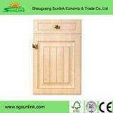 木の食器棚のSatinwoodのドア