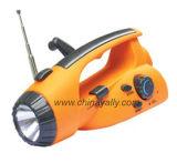Crank Dynamo Lampe de poche Radio (FJ-9521)